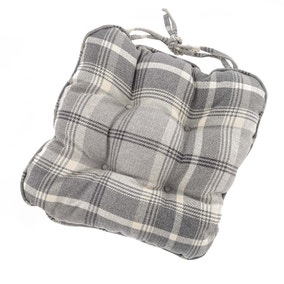 Highland Check Cream Seat Pad