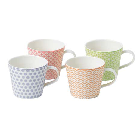 Royal Doulton Pastels Accent Set of 4 Mugs
