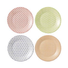 Royal Doulton Set of 4 Accent Pastels Plates