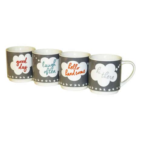 4 Thought Bubbles Stacking Mugs