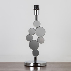 Crescent Mirrored Table Lamp Base