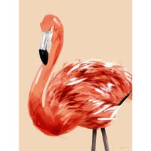 Quirky Flamingo Wood Effect Plaque