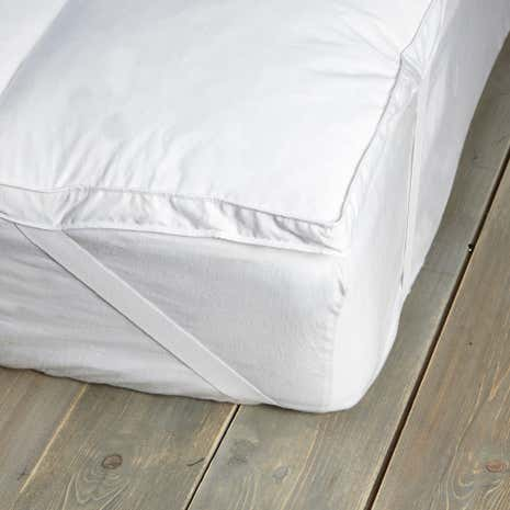 Hotel White Goose Feather and Down Mattress Topper