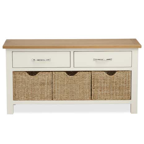Sidmouth Cream Storage Bench. Loz_exclusive_to_dunelm