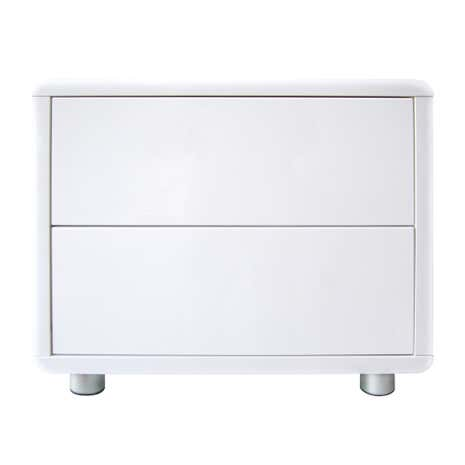Soho White Gloss 2 Drawer Bedside Table