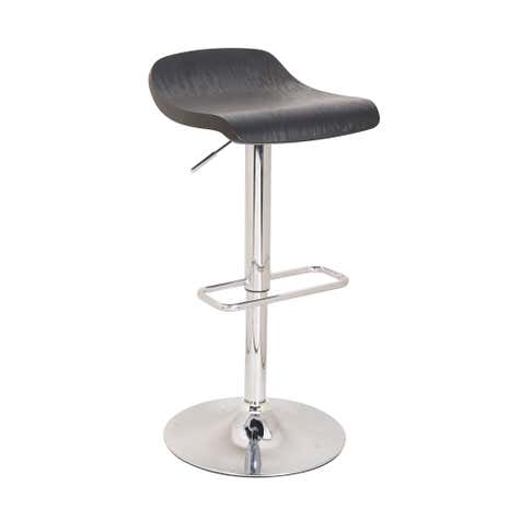 Black Neptune Wooden Seat Bar Stool