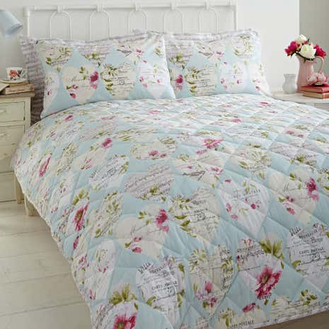Melody Duck Egg Bedspread