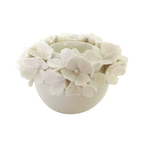 Dorma Cream Flower Tealight Holder