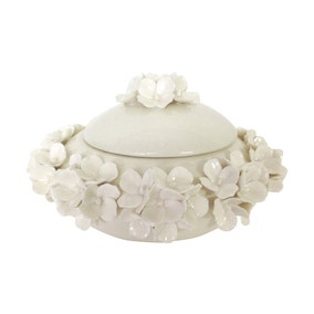 Dorma Cream Flower Trinket Pot