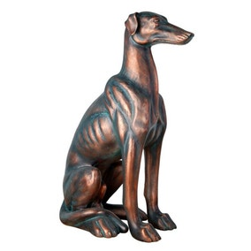Dorma Sitting Greyhound Statue