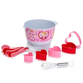 Princess Cupcake 12 Piece Mixing Bowl Set