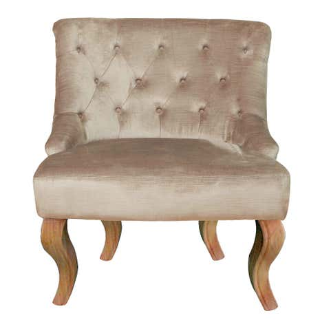 Antoinette Velvet Cream Chair