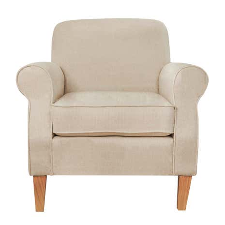 Aubrey Textured Cream Armchair