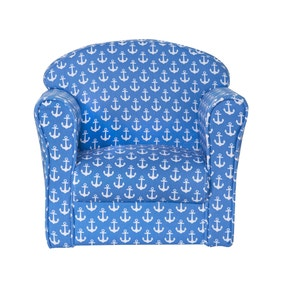Kids Blue Anchor Armchair