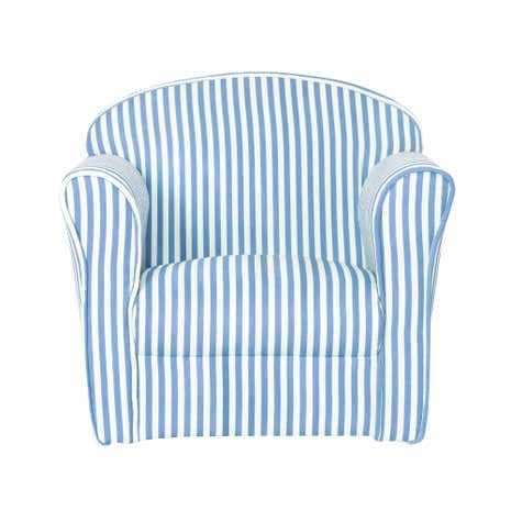 Blue Striped Armchair Kids Blue Stripe Armchair Dunelm