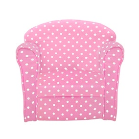 Kids Pink Polka Dot Armchair