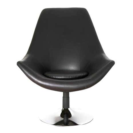 Black Riley Swivel Chair