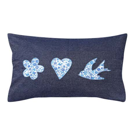 Denim Bird Cushion
