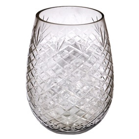 Dorma Cut Glass Hurricane Vase