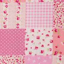 Pink Patchwork Cotton Poplin