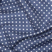 Blue Polka Dots Cotton Poplin