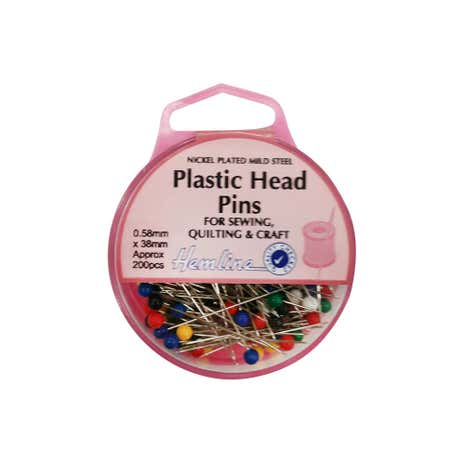 Hemline Eco Plastic Head Pins