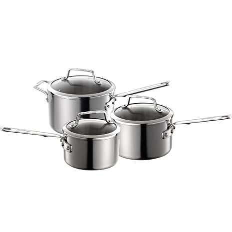 Authority Triple Clad 3 Piece Saucepan Set