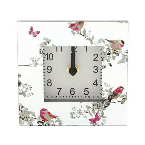 Beautiful Birds Mantle Clock