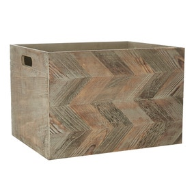 Chevron Pattern Wooden Box