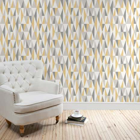 Triangle Ochre Wallpaper