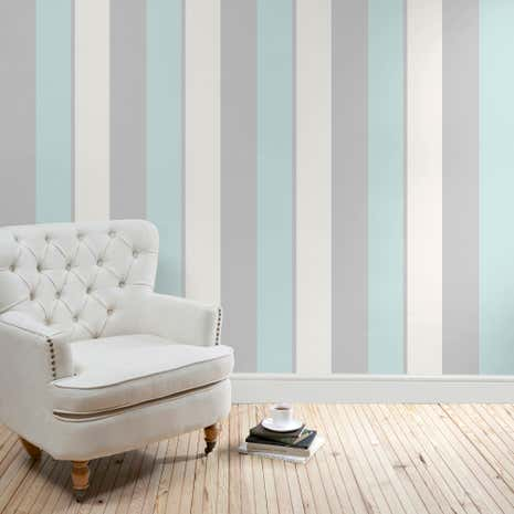 Duck Egg Vienna Striped Wallpaper