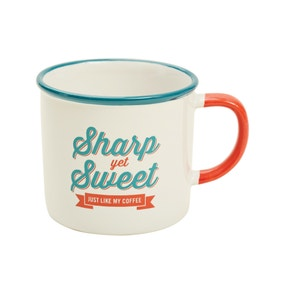 Jamie Oliver Sharp Yet Sweet Slogan Mug