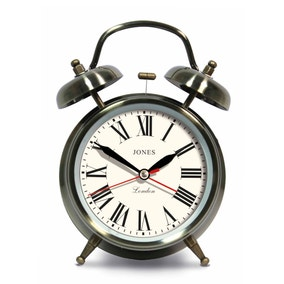 Jones Rise and Shine Brass Clock