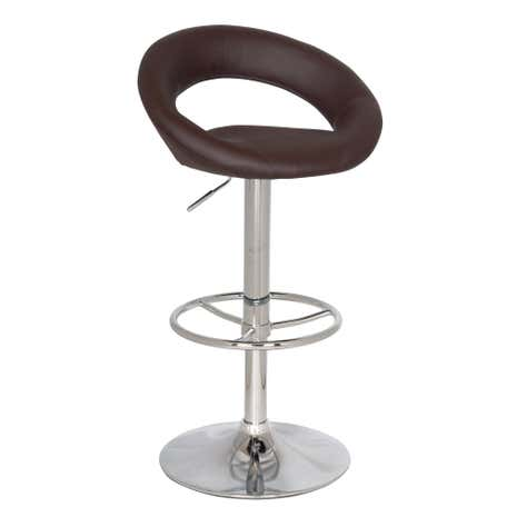 Piso Upholstered Brown Gas Lift Bar Stool