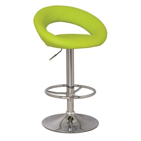 Piso Upholstered Green Gas Lift Bar Stool