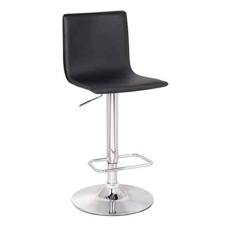 Aura Upholstered Black Bar Stool