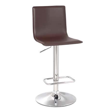 Aura Upholstered Brown Bar Stool