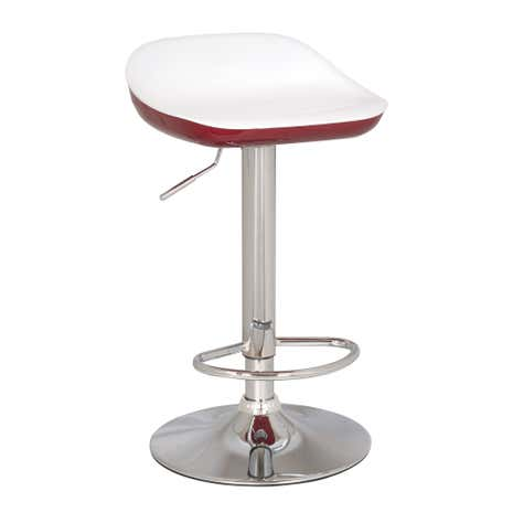 Roma Red Gas Lift Bar Stool