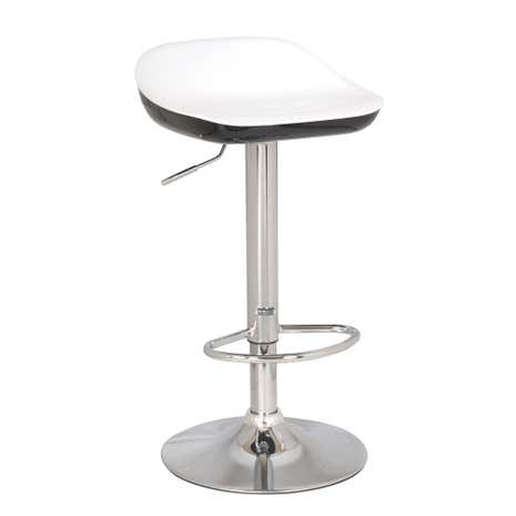 Roma Black Gas Lift Bar Stool