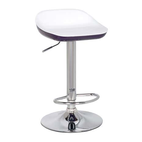 Roma Purple Gas Lift Bar Stool