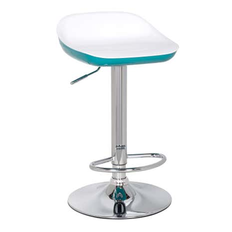 Roma Teal Gas Lift Bar Stool