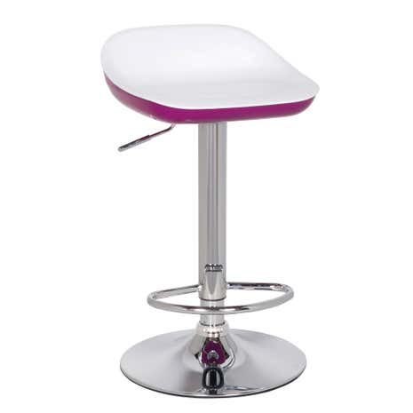 Roma Raspberry Gas Lift Bar Stool
