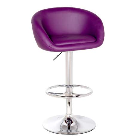 Apollo Upholstered Purple Gas Lift Bar Stool