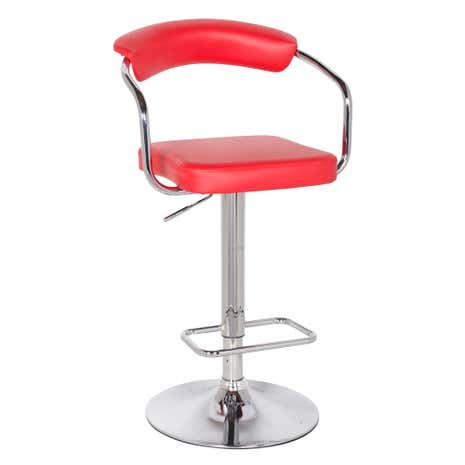 Houston Upholstered Red Gas Lift Bar Stool