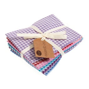 Pastel Gingham Cotton Fat Quarters