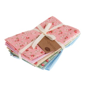 Valentines Pink Cotton Fat Quarters