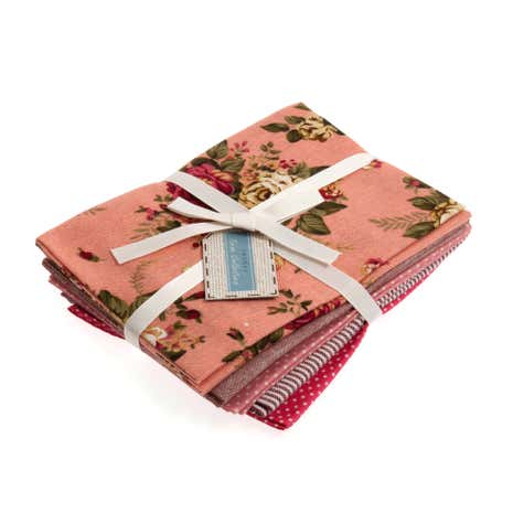 Rosy Cotton Linen Fat Quarters