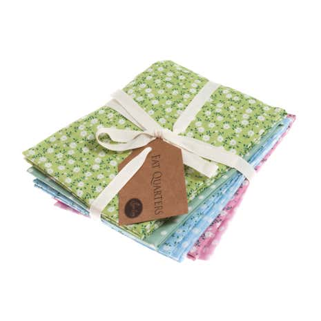 Pastel Polka Dot Daisy Cotton Fat Quarters