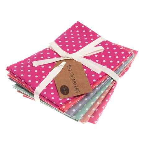 Summer Polka Cotton Fat Quarters