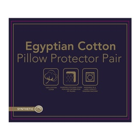 Egyptian Cotton Pillow Protector Pair